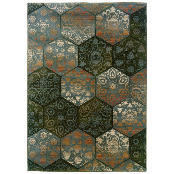 Somette Arabesque Lucarne Four Seasons Area Rug (9' x 12'2)