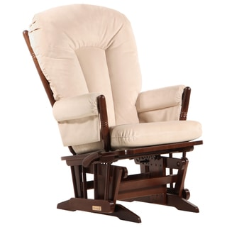 Dutailier Ultramotion Multi-position Coffee/ Light Beige 2-post Glider