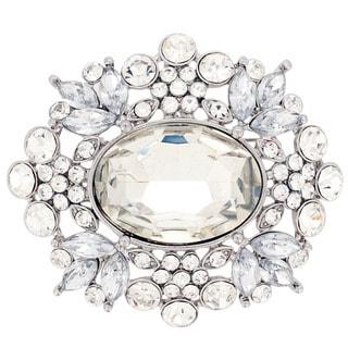 Australian Crystal 'Moonlight Flower' Pendant Brooch (Chain Not Included)
