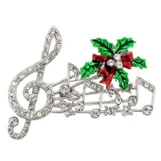 Christmas Themed Crystal Brooch