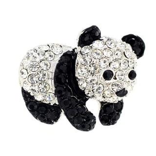 Panda Tag Pin  Crystal Brooch