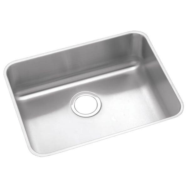 Elkay Gourmet (Lusterstone) Stainless Steel Large Single Bowl Undermount Sink