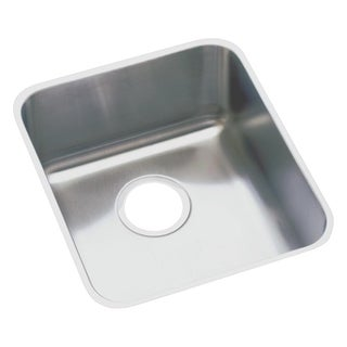 Elkay Gourmet (Lusterstone) Stainless Steel Medium Single Bowl Undermount Sink