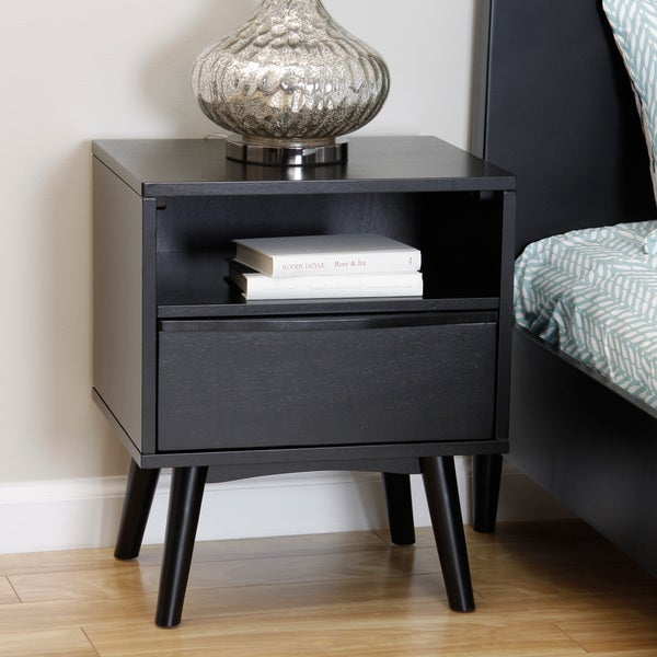 Sterling Soft Black Nightstand