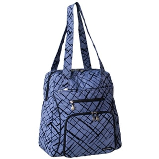 Jenni Chan Women's Blue Brush Strokes Soft Gym Tote Bag