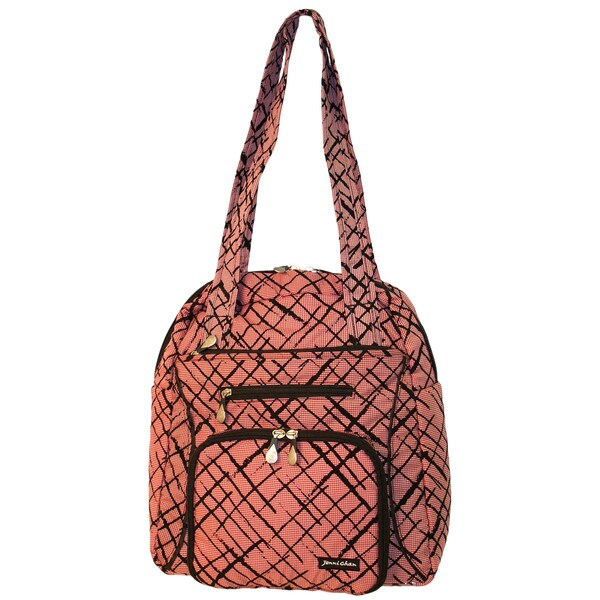 Jenni Chan Women's Red Brush Strokes Tote Bag