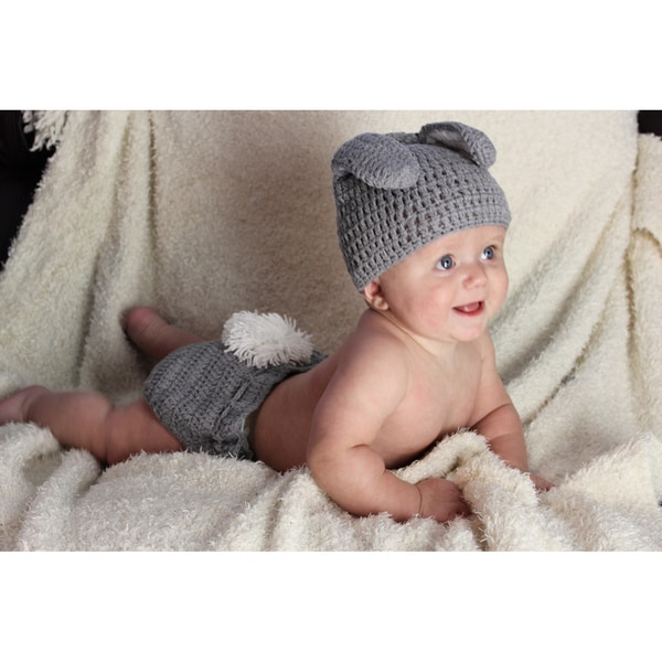 Sugarbaby Hoppity Hop Bunny Crocheted Beanie and Diaper Set