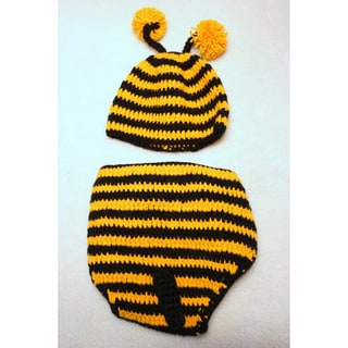Sugarbaby Bumble Bee Crocheted Beanie and Diaper Set