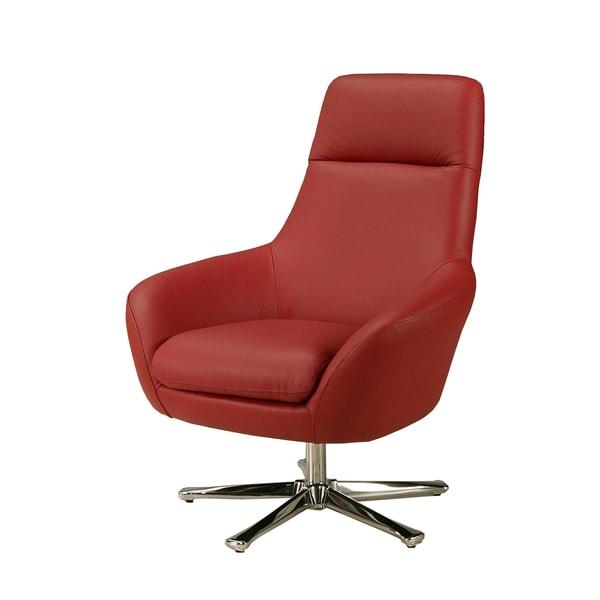 Ellejoyce Red Leather Club Chair