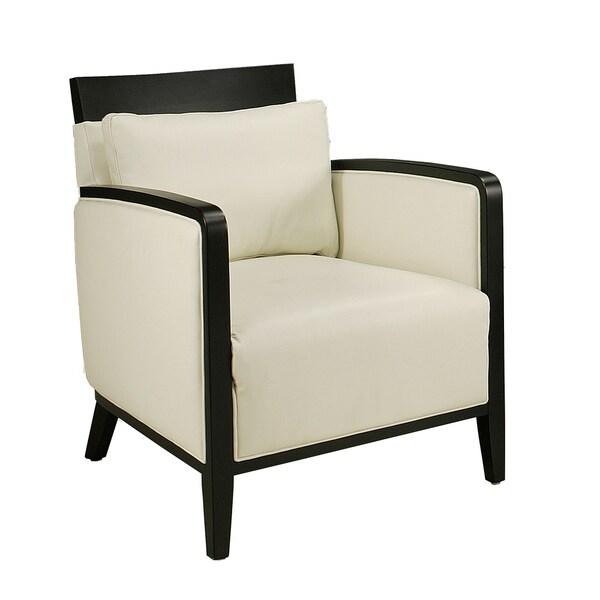 Elloise White Leather Club Chair
