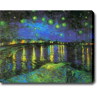 Vincent van Gogh 'Starry Night Over the Rhone' Oil on Canvas Art