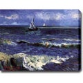 Vincent van Gogh 'Seascape near Saintes-Maries' Oil on Canvas Art