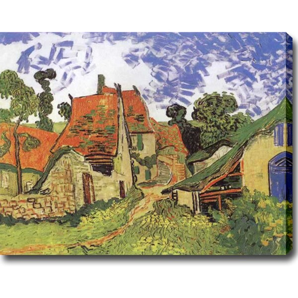 Vincent van Gogh 'Street in Auvers (Les Toits Rouges)' Oil on Canvas Art