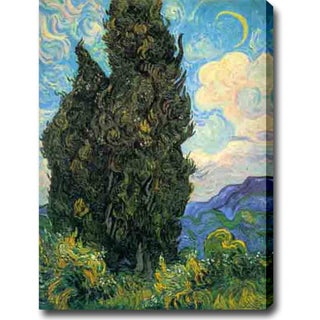 Vincent van Gogh 'Cypresses' Oil on Canvas Art