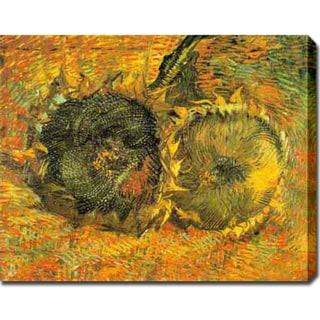 Vincent van Gogh 'Two Cut Sunflowers' Oil on Canvas Art