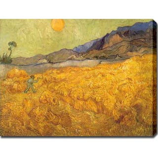 Vincent van Gogh 'The Harvester' Oil on Canvas Art