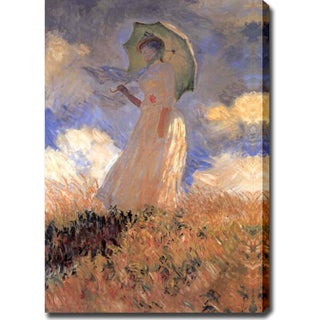 Claude Monet 'Woman With Umbrella' Oil on Canvas Art