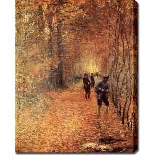 Claude Monet 'The Shoot' Oil on Canvas Art