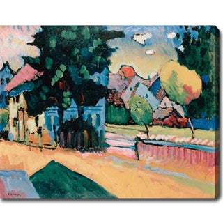 Wassily Kandinsky 'View of Murnau' Abstract Oil on Canvas Art
