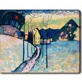 Wassily Kandinsky 'Winter Landscape' Abstract Oil on Canvas Art