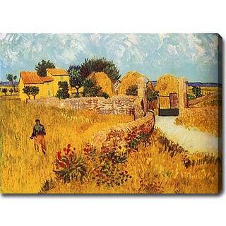 Vincent van Gogh 'Farmhouse in Provence' Oil on Canvas Art