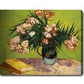 Vincent van Gogh 'Oleanders' Oil on Canvas Art