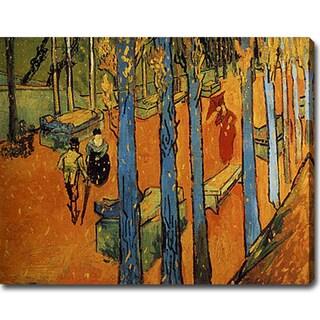 Vincent van Gogh 'Les Alyscamps' Oil on Canvas Art