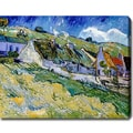 Vincent van Gogh 'Cottages' Oil on Canvas Art