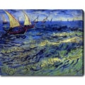 Vincent van Gogh 'Seascape at Saintes-Maries' Oil on Canvas Art