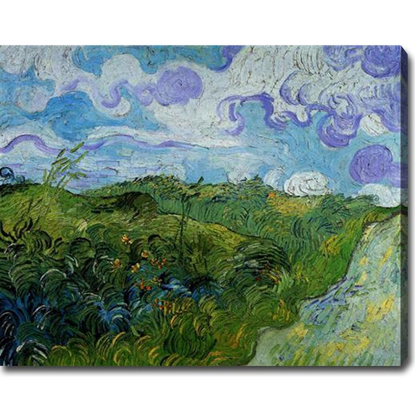 Vincent van Gogh 'Green Wheat Fields' Oil on Canvas Art