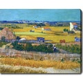 Vincent van Gogh 'The Harvest' Oil on Canvas Art