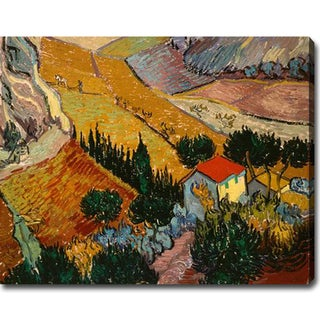Vincent van Gogh 'Landscape with House and Ploughman' Oil on Canvas Art