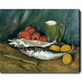 Vincent van Gogh 'Still Life with Mackerels, Lemons and Tomatoes' Oil on Canvas Art