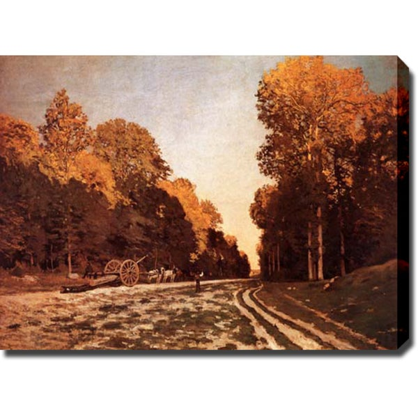 Claude Monet 'The From Chailly to Fontainebleau' Oil on Canvas Art