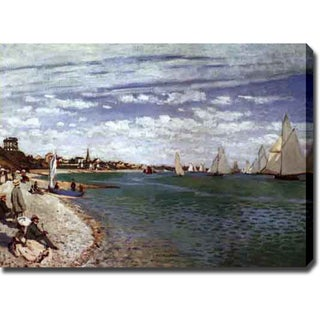 Claude Monet 'The Regatta at Saint-Adresse' Oil on Canvas Art