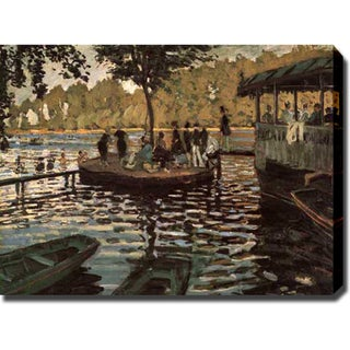 Claude Monet 'La Grenouill�re' Oil on Canvas Art