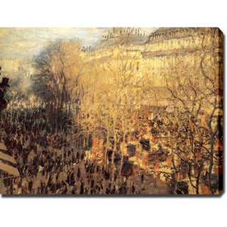 Claude Monet 'Boulevard of Capucines In Paris' Oil on Canvas Art