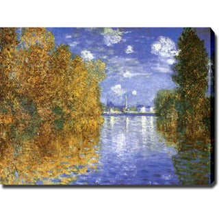 Claude Monet 'Autumn Effect at Argenteuil' Gallery-wrapped Canvas Art