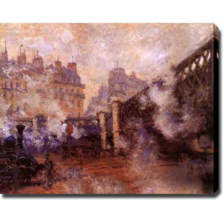 Claude Monet 'Le Pont De L'Europe, Gare Saint-Lazare' Gallery-wrapped Canvas Art