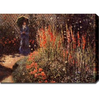 Claude Monet 'Garden Path' Gallery-wrapped Canvas Art