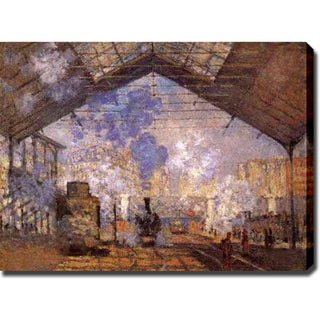 Claude Monet 'La Gare Saint-Lazare' Gallery-wrapped Canvas Art