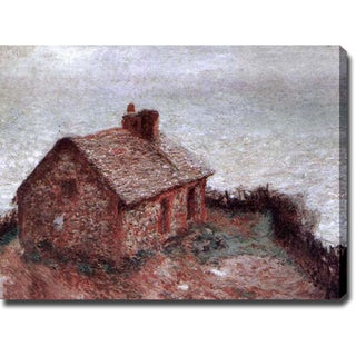 Claude Monet 'Customs House at Varengeville III' Gallery-wrapped Canvas Art