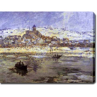Claude Monet 'Vetheuil in Winter' Gallery-wrapped Canvas Art