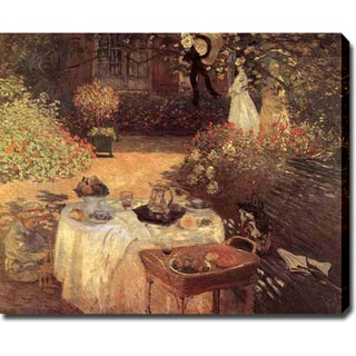 Claude Monet 'Le Dejeuner' Gallery-wrapped Canvas Art