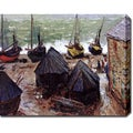 Claude Monet 'Boats in Winter Quarter, Etretat' Gallery-wrapped Canvas Art