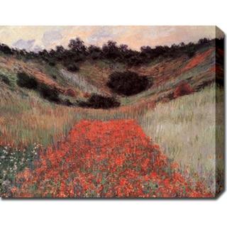 Claude Monet 'Poppy Field in Hallow' Gallery-wrapped Canvas Art