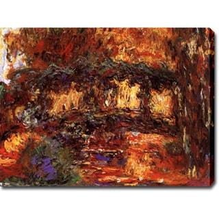 Claude Monet 'The Bridge at Giverny' Gallery-wrapped Canvas Art