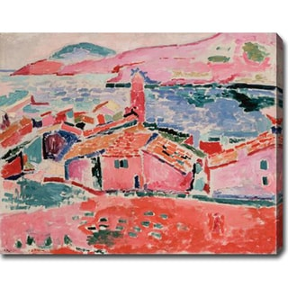 Claude Monet 'View of Collioure' Gallery-wrapped Canvas Art