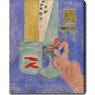Claude Monet 'Goldfish and Sculpture' Gallery-wrapped Canvas Art