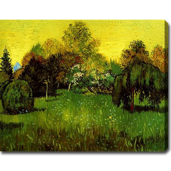 Vincent van Gogh 'The Poet's Garden' Gallery-wrapped Canvas Art